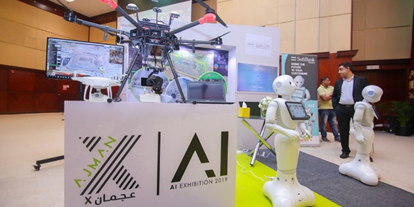 Pepper attends special AI exhibition hosted by Ajman Municipality