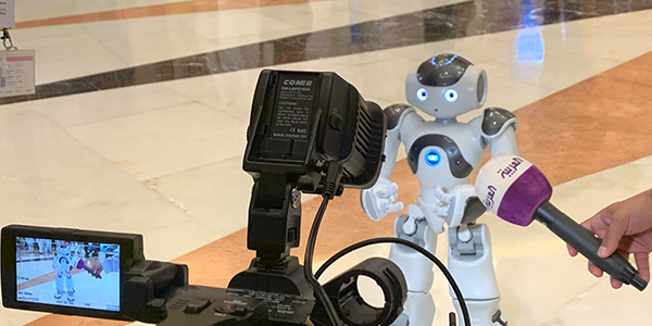 Pepper and NAO made an appearance at Future Investment Initiative in Riyadh