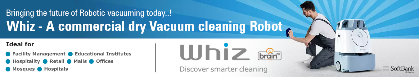 Whiz Vacuum Robot for Government Institutions By Jackys Business Solutions Dubai