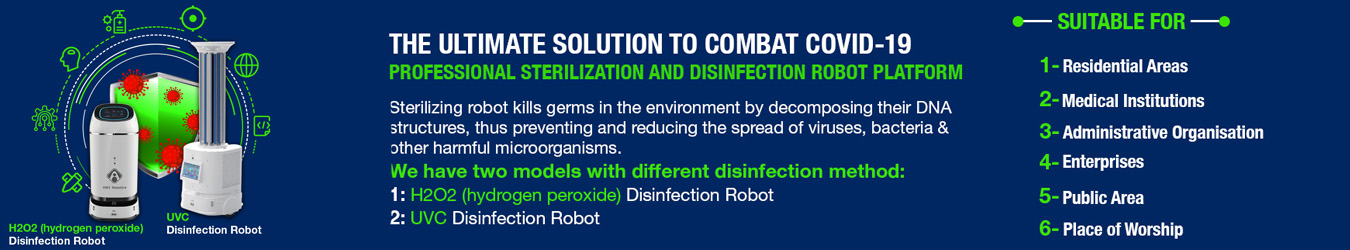 Amy Disinfection Robot for Healthcare Institutions By Jackys Business Solutions Dubai