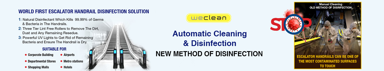 WeClean Escalator Handrail Disinfection for Government Institutions By Jackys Business Solutions Dubai