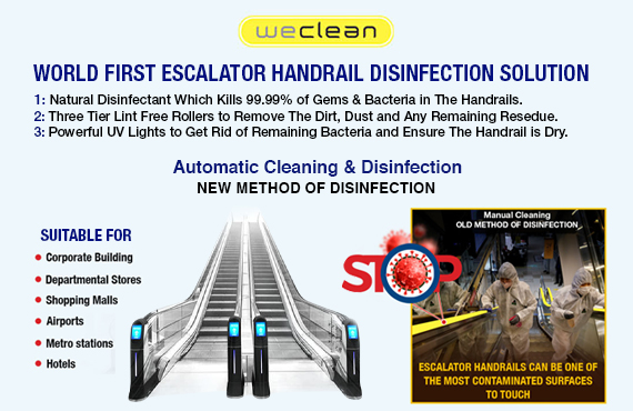 WECLEAN ESCALATOR HANDRAIL DISINFECTION - RETAILS & HOSPITALITY for Retail Business By Jackys Business Solutions Dubai